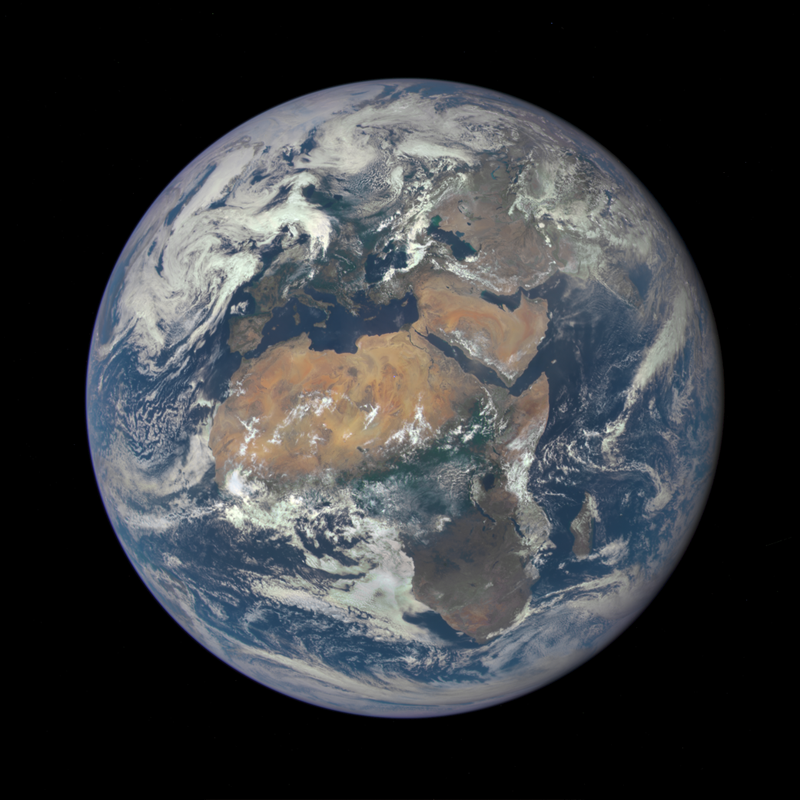 image of Earth taken by a NASA camera on the Deep Space Climate Observatory (DSCOVR) satellite